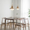 Modern LED Pendant Light Retro Wood Metal Sphere Living Dining Room from Singapore best online lighting shop horizon lights