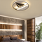 This is the scene picture. Modern LED Ceiling Light Acrylic Metal Sailboat Shape Living Room Bedroom from Singapore best online lighting shop horizon lights