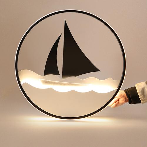 Modern LED Ceiling Light Acrylic Metal Sailboat Shape Living Room Bedroom from Singapore best online lighting shop horizon lights