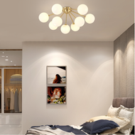 Modern LED Ceiling Light Glass Ball Lampshade Copper Living Room Bedroom from Singapore best online lighting shop horizon lights