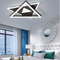 Modern LED Ceiling Light Aluminum Two Triangle Creative Living Room Bedroom from Singapore best online lighting shop horizon lights