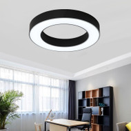 Modern Simple LED Ceiling Light  Metal PVC Annulus Shape Workplace Living Room from Singapore best online lighting shop horizon lights