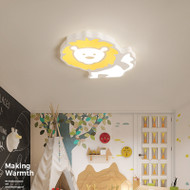 Modern LED Ceiling Light Cartoon Lion Metal Acrylic Children Bedroom from Singapore best online lighting shop horizon lights