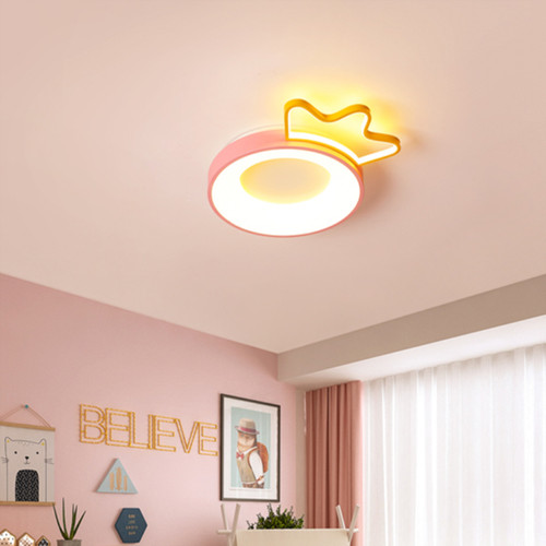 Modern LED Ceiling Light Metal Acrylic Annulus Cute Children Princess Bedroom from Singapore best online lighting shop horizon lights