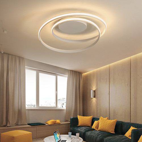 Modern LED Ceiling Light Aluminum Silica gel Round Bedroom Living Room from Singapore best online lighting shop horizon lights