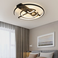 Modern LED Ceiling Light Aluminum Acrylic Round Creative Bedroom Living Room from Singapore best online lighting shop horizon lights image-1