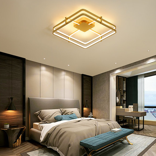 Modern LED Ceiling Light Aluminum PVC Square Frame Living Room Bedroom from Singapore best online lighting shop horizon lights