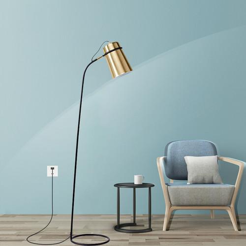 Modern LED Floor Lamp Metal Gold Lampshade Creative Living Room Reading Lighting from Singapore best online lighting shop horizon lights