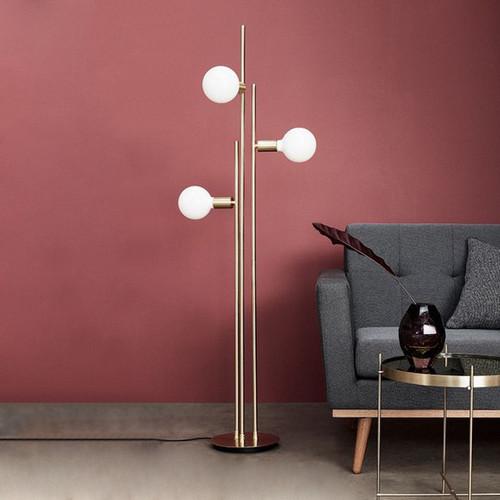 Modern LED Floor Lamp Glass Ball Lampshade Metal Creative Bedroom Living Room from Singapore best online lighting shop horizon lights image-1