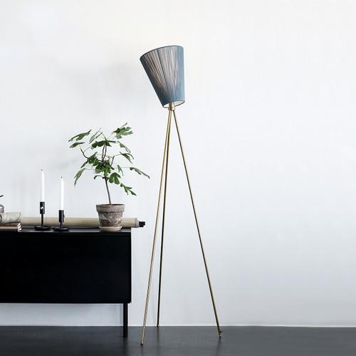 Modern LED Floor Lamp Rotatable Colth Lampshade Copper Bedroom Living Room from Singapore best online lighting shop horizon lights