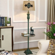 American LED Floor Lamp Linen Lampshade Metal Multifunction Bedroom Living Room from Singapore best online lighting shop horizon lights