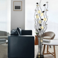 Modern LED Floor Lamp Aluminum Crystal Vase Shape Bedroom Living Room from Singapore best online lighting shop horizon lights