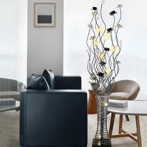Modern LED Floor Lamp Aluminum Crystal Vase Shape Bedroom Living Room from Singapore best online lighting shop horizon lights
