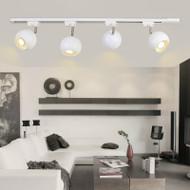 Modern LED Track Light Metal Ball Lampshade Rotatable Living Room Shops from Singapore best online lighting shop horizon lights