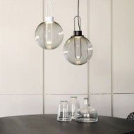 Modern LED Pendant Light Glass Ball Lampshade Minimalism Dining Room Coffee Bar from Singapore best online lighting shop horizon lights