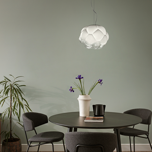 Modern LED Pendant Light Glass Cloud Shape Metal Cafe Bar Dining Room Decor from Singapore best online lighting shop horizon lights