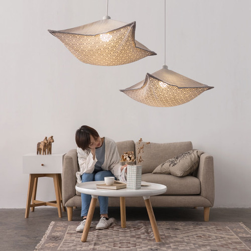 Modern LED Pendant Light Fabric Pillow Shade Metal Creative Warmth Bedroom Decor from Singapore best online lighting shop horizon lights