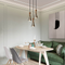 Modern LED Pendant Light Metal Wood Bell Shape Artistic Bedroom Dining Room from Singapore best online lighting shop horizon lights