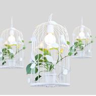 Modern LED Pendant Light Metal Resin Birdcage Plants Dining Room Resataurant Decor from Singapore best online lighting shop horizon lights