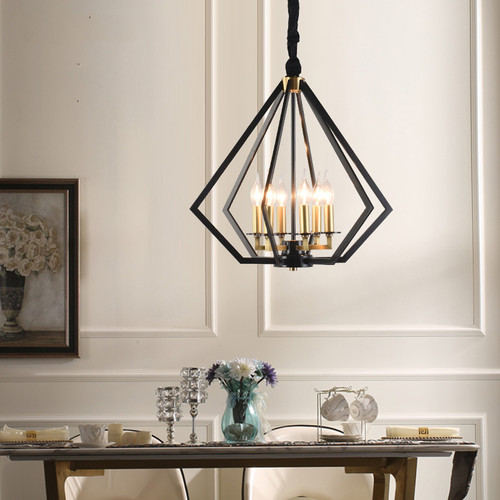 American Retro LED Pendant Light Copper Frame Fancy Living Dining Room Decor from Singapore best online lighting shop horizon lights
