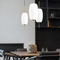 Simple Nordic Style LED Pendant Light Glass Oval Lampshade Metal Living Dining Room from Singapore best online lighting shop horizon lights
