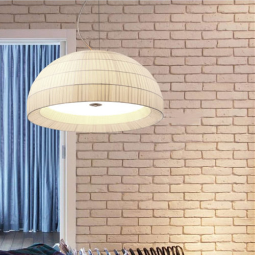 Modern LED Pendant Light Cloth Semicircle Shade Metal Glass Dining Living Room from Singapore best online lighting shop horizon lights