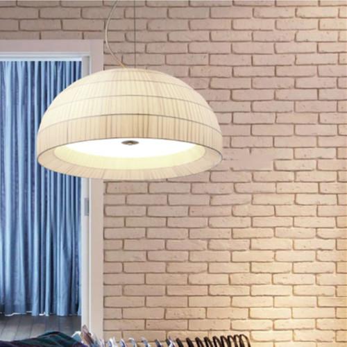 Modern LED Pendant Light Cloth Semicircle Shade Metal Glass Dining Living Room from Singapore best online lighting shop horizon lights