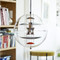 Modern LED Pendant Light Glass Ball Shade Metal Acrylic Cafe Bar Living Dining Room Decor from Singapore best online lighting shop horizon lights