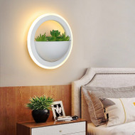 Modern LED Wall Light Metal PMMA Round Artificial Plant Creative Corridor Balcony Decor from Singapore best online lighting shop horizon lights