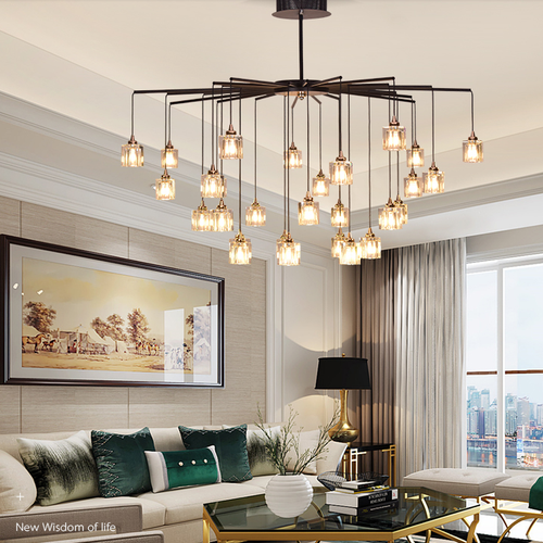 Modern LED Chandelier Light K9 Crystal Lampshade Metal Artistic Living Dining Room from Singapore best online lighting shop horizon lights