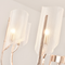 Metal Acrylic Sheets Shade LED Chandelier Light American Dining Room Bedroom