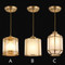 New Chinese LED Pendant Light Coppery Glass Lampshade Balcony Dining Room from Singapore best online lighting shop horizon lights