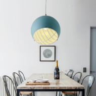 Modern LED Pendant Light Metal Ball Shape Simple Dining Room Cafe Bar from Singapore best online lighting shop horizon lights