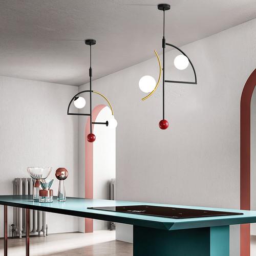 Modern LED Pendant Light Metal Glass Creative Dining Room Restaurant from Singapore best online lighting shop horizon lights