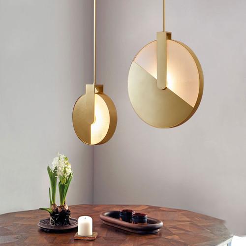 Modern LED Pendant Light Aluminum Acrylic Circle Creative Living Room Bar from Singapore best online lighting shop horizon lights