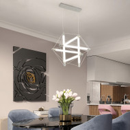 Modern LED Pendant Light Metal Acrylic Cudgel Creative Dining Room Bedroom from Singapore best online lighting shop horizon lights