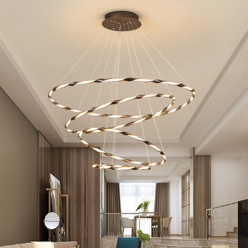 Modern LED Pendant Light Aluminum Silica gel Annulus Simple Living Room Dining Room from Singapore best online lighting shop horizon lights