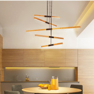 Modern LED Pendant Light Wood Metal Acrylic Rotatable Simple Dining Room Bar from Singapore best online lighting shop horizon lights