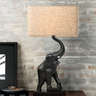 Modern LED Table Lamp Resin Elephant Shape Base Fabric Shade Home Decor from Singapore best online lighting shop horizon lights