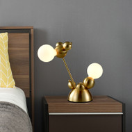 Modern LED Table Lamp Metal Glass Mouse Shape Unique Bedroom Living Room Decor from Singapore best online lighting shop horizon lights
