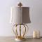 American LED Table Lamp Linen Shade Retro Metal Frame Bedroom Living Room Decor from Singapore best online lighting shop horizon lights