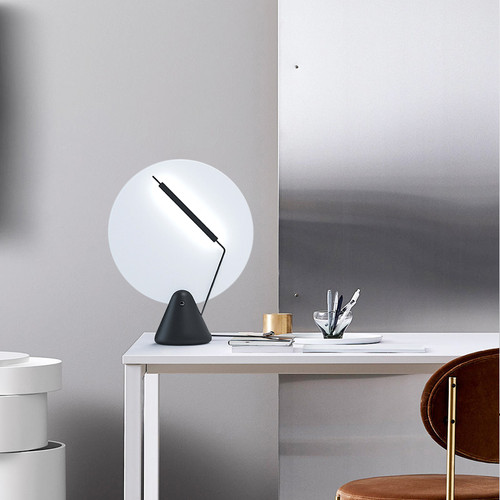 Post-modern LED Table Lamp Metal Acrylic Disk Artistic Bedroom Living Room from Singapore best online lighting shop horizon lights