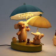 Modern LED Table Lamp Wood Metal Cloth Elephant Cartoon Bedroom Study Room from Singapore best online lighting shop horizon lights image-1