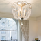 American LED Ceiling Light Crystal Beads Lampshade Metal Dining Room Hallway from Singapore best online lighting shop horizon lights