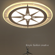 Modern LED Ceiling Light Acrylic Compass Pattern Children's Bedroom Study Room from Singapore best online lighting shop horizon lights