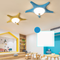 Modern LED Ceiling Light Resin Starfish Shape Glass Lampshade Metal Bedroom from Singapore best online lighting shop horizon lights
