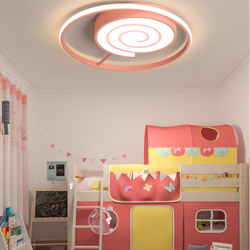 Modern LED Ceiling Light Metal Acrylic Lollipop Shape Cute Kindergarten Bedroom from Singapore best online lighting shop horizon lights