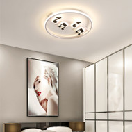 Modern LED Ceiling Light Metal Acrylic Circle Note Creative Bedroom Living Room from Singapore best online lighting shop horizon lights