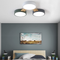 Modern LED Ceiling Light Metal Acrylic Wood Round Shape Bedroom Living Room from Singapore best online lighting shop horizon lights