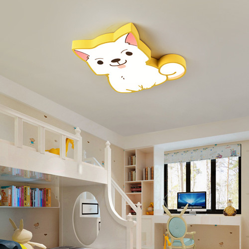 Modern LED Ceiling Light Acrylic Metal Cute Puppy Shape Kids Bedroom Decor from Singapore best online lighting shop horizon lights